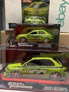 Jada Fast & Furious Brians Mitsubishi Lancer Evolution 7 VII 1:24 1:32 1:64