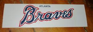 1990 ATLANTA BRAVES BUMPER STICKER 3 X 10 1/4 INCHES