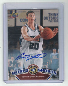 GORDON HEYWARD 2010 Upper Deck World Of Sports AUTO Butler Celtics No. 43 RC SP