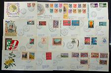 1968 - Annata completa  su 21  Buste FDC
