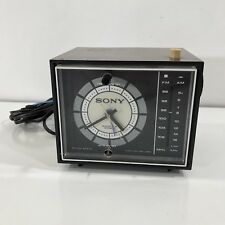 Vintage Sony 7FC-34WA Solid State Transistor Radio Clock Japan Retro MCM Works!