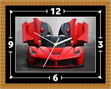 Ferrari Wall Clock Gift Present Christmas Birthday (Can Be Personalised)