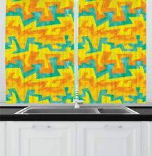 Urban Graffiti Kitchen Curtains 2 Panel Set Window Drapes 55