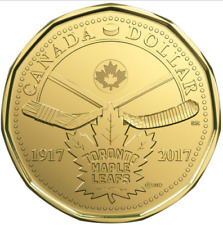Canada 2017 100th Anniversary Toronto Maple Leaf $1 Mint Coin.