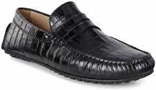 Ecco Hybrid Moc Black Moccasian Shoes For Men Size UK 8 EU42