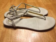 MOSSIMO Ivory Gold Thong Sandals SHOES Flat Rubber sole size 10