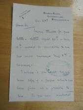 1938 SIR MILES EWART MITCHELL CITY OF MANCHESTER SIGNED AUTOGRAPH LETTER