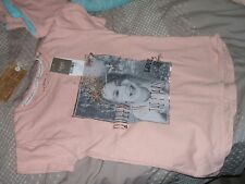 BNWT Next S/S Top Pink/Gold 'Queen of the Stars' Beaded Age 9 GORGEOUS
