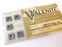 NEW SURPLUS 10PCS. VALENITE SNMG 322C  GRADE: VC125  CARBIDE INSERTS
