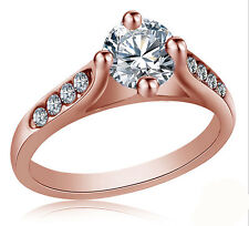 Women Size 6-9 Party Stainless Steel Wedding Ring Titanium Engagement 2 Colors Silver 9