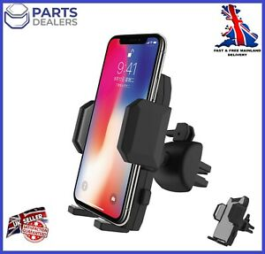 PHONE HOLDER AIR VENT  UNIVERSAL MOBILE 360 DEGREE MOUNT GREY FOR IPHONE SAMSUNG