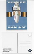 PAN AM EUROPE FROM NEW YORK IN 7 JET MAGIC HOURS POSTCARD