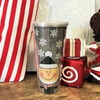 Black Glitter Christmas Elf Acrylic Tumbler