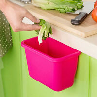 Creative Doors Hang Trash Baskets Desktop Box Garbage Kitchen Cabinet Storage HO