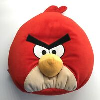 "Angry Birds Red Plush Stuffed Animal Pillow Large 13"" X 15"" Bird"