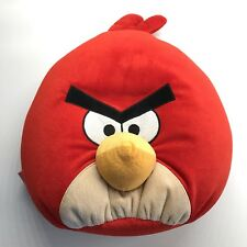 "Angry Birds Red Plush Stuffed Animal Pillow Large 13"" X 15"" Bird"