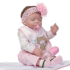 """Real Looking 23"""" 57cm Full Body Silicone Vinyl Reborn Baby Girl Doll Toddler"""