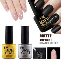 8ml UV&LED Soak Off Gel vernis à ongles, Manteau mat et couche de base Nail Art