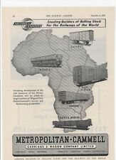 1949 Print advert METROPOLITAN-CAMMELL CARRIAGE & WAGON CO + Taylor Railways