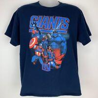 New York Giants Avengers Mens XL X-Large T-Shirt NFL Graphic Marvel Gildan Tee