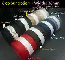 Soft 38mm Stripe Spun Polyester Webbing - DIY Canvas Cotton Bag strap/belt craft