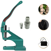 Pyramid Studs Fixing Dies with Hand Press Green Machine for Leathercraft Purses