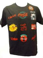 Coca Cola Coke Adult Mens Sizes S-M-L-XL-2XL Classic Slogans Charcoal Gray Shirt