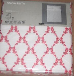 IKEA Snoa Ruta Queen Full Duvet Cover Set Red White Lattice Design SNÖA Xmas