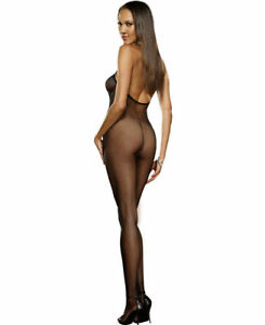 New Dreamgirl 0017 Seamless Fishnet Open Crotch Bodystocking