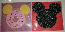 New listing Lot 2 Papyrus Disney Mickey Mouse Ears Donut Glass Seed Bead Birthday Cards