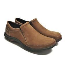 Merrell Dassie Mock Women 8 38.5 Loafer Shoes Brown Nubuck Suede Slipon Flat NEW