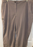 LL BEAN Women's Size 18-Reg Light Brown Nylon Capris  Hiking Outdoors Active
