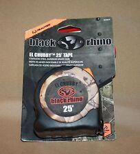 REALTREE BLACK RHINO 25' MEASURING TAPE EL CHUBBY DESIGN STAINLESS STEEL CASE