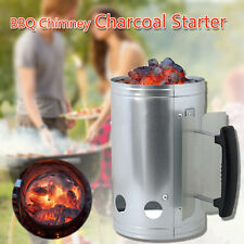 New BBQ Barbecue Chimney Starter Charcoal Grill Steel Rapid Quick Fire Lighter