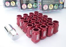 ROSSO * d1-Spec * Heptagon Lug Nuts 40mm m12 x 1.5 Dadi Ruota Cerchi Castello