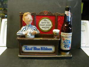 VINTAGE PABST BLUE RIBBON BEER LIGHTED COUNTER DISPLAY