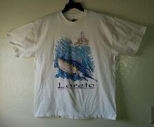 Fantastic LORETO BAJA CALIFORNIA SUR Deep Sea Fishing Graphics XXL Tee Shirt