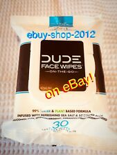 DUDE WIPES Face Cleanse And Refresh 2 in 1 —-30 Face Wipes NEW!🚨