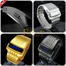 Men Digital Big Wrist watch IronMan Style LED Display Watch Stainless Steel New