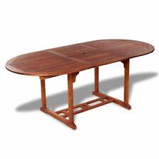 vidaXL 41818 Table de Jardin Extensible en Bois Massif - Marronne