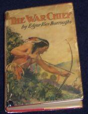 THE WAR CHIEF Edgar Rice Burroughs (TARZAN) ORIGINAL DUST JACKET 1st G&D 1928