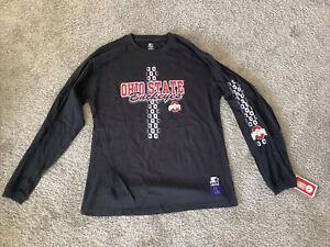 Vintage Ohio State Buckeyes OSU Long Sleeve Starter Shirt Large Black NEW NWT