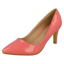 Damen Patent Anne Michelle einfarbig spitz zulaufend High Heel Pumps - f9758