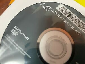 New- Adobe Acrobat X Standard OEM DVD with Key