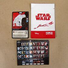 Star Wars: Last Jedi FORCE BATTLE CARD AT-M6 - Matahari Mart Promo - Indonesia