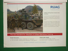 8/2006 PUB RUAG AEROSPACE ELECTRONICS ARMEE SUISSE URBAN OPERATIONS TRAINING AD