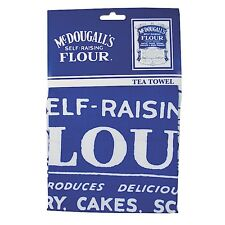 100% Cotton Retro McDougalls Self Raising Flour Tea Towel BNWT