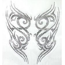 Rhinestone Iron On Transfer Hot fix Motif Crystal tattoo designs  deco Fashion