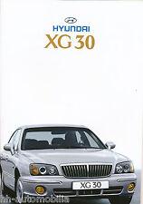 Hyundai XG 30 Prospekt 1/02 car brochure 2002 Auto PKWs Korea Asien Autoprospekt