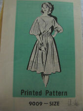 VTG Marian Martin Women 14/36 DRESS Sewing Pattern 9009